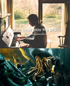 When boys play the piano - Pirates of the Caribbean version