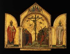 The Athenaeum - The Redeemer with Angels, Saint Nicholas and Saint Gregory (Duccio di Buoninsegna - )