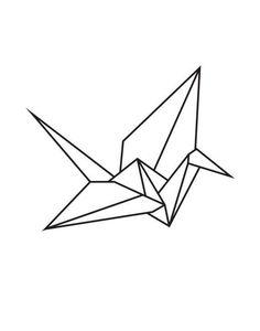 ideas origami crane tattoo paper birds for 2019 Origami Tattoo, Tattoo Paper, Paper Crane Tattoo, Origami Design, Useful Origami, Origami Easy, Crane Drawing, Origami Architecture, Geometric Drawing