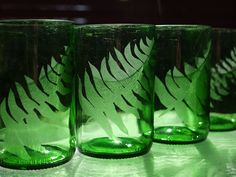 Glass Etching Turns Old Bottles Into Something Beautiful