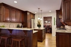 Dark Brown Colored For Cherry Wood Kitchen Cabinets Best Cherry Wood Kitchen  Cabinets Sale In Store