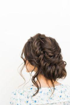 braided updo, love the soft updo look beautiful hairstyle! | Ledyz Fashions || www.ledyzfashions.com