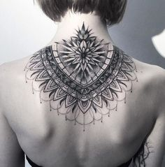Dotwork Tattoo on back