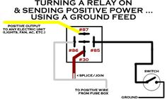 Powering A Relay With A Negative/Ground Feed Electrical Symbols, Electrical Wiring Diagram, Electrical Troubleshooting, R34 Skyline, Polaris Ranger Crew, Car Audio Installation, Car Fix, Truck Repair, Power Wheels