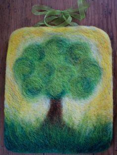 Summer Tree Felted Wall Hanging by NaliiOnEtsy on Etsy, $70.00