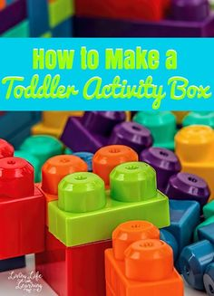 Homeschooling? Use these ideas to build a toddler activity box for your little ones so you can focus on teaching the big kids. Learning Toys, Learning Activities, Learning Skills, Preschool Learning, Sensory Activities, Toddler Preschool, Toddler Activities, Toddler Art, Toddler Learning