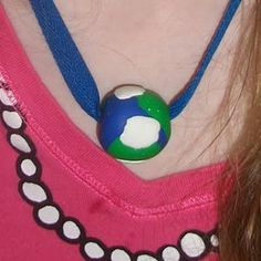 Earth Day Globe Necklace