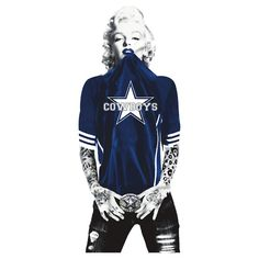 Marilyn Monroe Dallas Cowboys by daleos Dallas Cowboys Tattoo, Dallas Cowboys Quotes, Dallas Cowboys Wallpaper, Dallas Cowboys Pictures, Dallas Cowboys Women, Texas Cowboys, Cowboys Gifts, Nfl Football Teams, Dallas Cowboys Football