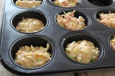 Savory muffins with ham, cheese and leek - Tasty and Simple - Savory muffins with ham, cheese and leek – Tasty and Simple - Quiche Muffins, Savory Muffins, Oven Dishes, Lunch Snacks, Delish, Snack Recipes, Food Porn, Food And Drink, Yummy Food