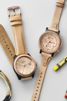 #Fossil watches in #rosegold