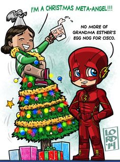 """Lord Mesa on Twitter: """"Easy on the egg nog folks!!! Be merry and safe!!! @Tha_Los @grantgust @CW_TheFlash @FLASHProdOffice @FLASHtvwriters https://t.co/MPxrZh7gQ1"""""""