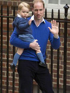 Die schönsten Bilder des Royal Babys: Herzogin Catherine und Prinz William im Glück. William und sein Sohn George