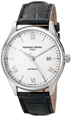 Frederique Constant Men's FC303SN5B6 Index Analog Display Swiss Automatic Black Watch