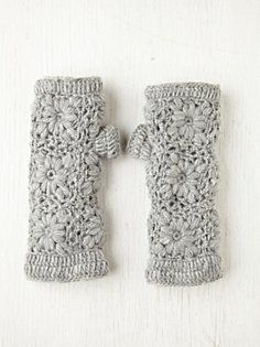 Crochet Fleece Armwarmers... must make these for Nawal.