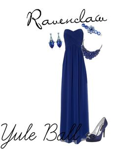 """Ravenclaw Yule Ball"" by puppet17 on Polyvore"