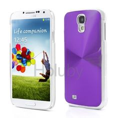 Dizzling CD Veins Metal Aluminium Hard Cases for Samsung Galaxy S4 i9500 i9505 i9508 (Purple)