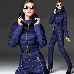 2016 Newest Arrival!!!Winter warm Ski Suits women Russia One Piece jumpsuits for lady Snow Wear Women's Down Coats Slim Bodysuit