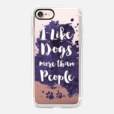 I like Dogs more than People - Classic Grip Case