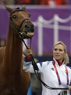 Great Britain's Zara Phillips brings her horse High Kingdom for inspection prior to the show-jumping phase of the equestrian eventing competition at the 2012 Summer Olympics, Tuesday, July 31, 2012, at Greenwich Park in London.