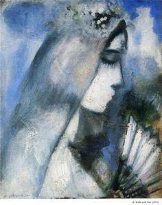 Marc Chagall. Novia con un abanico, 1911. Óleo sobre lienzo. Colección privada. WikiPaintings.org - the encyclopedia of painting