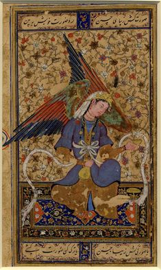 Timurids and friends — An angel seated on a carpet Bukhara, Shaybanid...