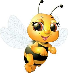 "Photo from album ""пчёлы насекомые"" on Yandex. Cartoon Bee, Cute Cartoon, Bee Pictures, Bee Images, Blue Nose Friends, Bee Tattoo, Cute Bee, Bee Art, Bee Happy"