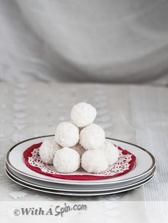 Coconut Laddu To Celebrate Nobo Borsho - নারিকেলের নাড়ু: 2½  cups desiccated coconut (unsweetened), 3 green cardamom, 2-3 cinnamon sticks each about 1 inch long, 1 cup milk, 1 cup condensed milk