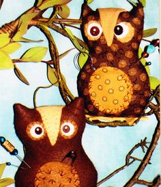 PATTERN - What A Hoot! pincushion - cute owl sewing accessories PATTERN