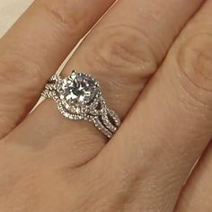 Love That The Engagement Ring And Wedding Band Fit Together Rings Round
