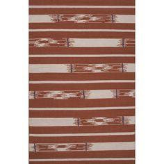 Traditions Made Modern Flat Weave Wool Auburn/Ivory Area Rug
