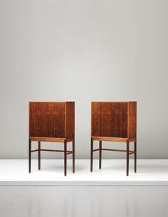 Ole Wanscher; Rosewood and Brass Cabinets for A.J. Iversen, c1954.