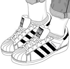 outline, adidas, and shoes image