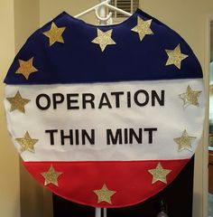 Operation Thin Mint costume for cookie sales.