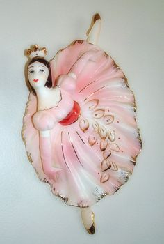 Pink Ballerina Wall Hanging  Vintage  Wall Decor  by fineoldthings, $19.50