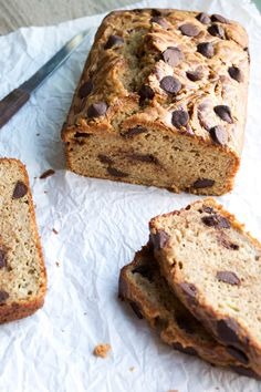 Chocolate chips meet banana bread meet peanut butter in this amazing and healthy combo.