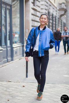 Liu Wen Street Style Street Fashion Streetsnaps by STYLEDUMONDE Street Style Fashion Blog