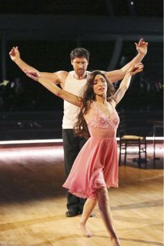 Meryl Davis and Maksim Chmerkovskiy dance the Rumba on week 8 of 'Dancing With The Stars' on May 5, 2014.