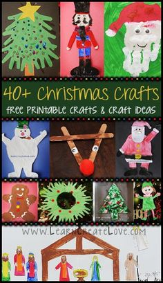 40+ Christmas Crafts -- Printable Crafts & Fun Craft Ideas! From http://LearnCreateLove.com