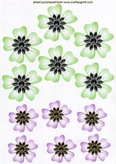 Lovely floral green pink jewelled emb on Craftsuprint - Add To Basket!