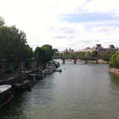 La Seine depuis le Pont-Neuf #paris #france #bateaux-mouches #louvre #Minitl