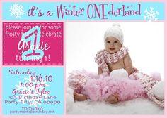 Winter ONEderland  SINGLE side Custom Photo by LexiJaynesDesigns, $15.00