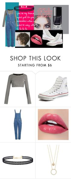 """""""Brown Eyed Girl"""" by the-mysterious-miss-f ❤ liked on Polyvore featuring Dolce&Gabbana, Converse, M.i.h Jeans, LULUS and Kate Spade"""