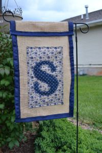 Burlap Garden Flag Tutorial