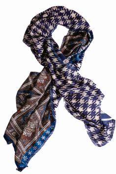 Pierre-Louis Mascia printed silk scarf at  Printemps.  FW13 collection