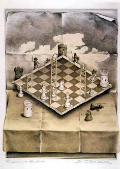 Impossible Chess. Created by Sandro Del Prete. Optical illusions are always very cool and interesting, but this one is my absolute favorite beacuase it isn't as obvious. It's not crowded, or messing with vision, but it is brilliant the way perception is used.