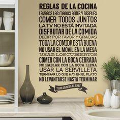 Reglas de la Cocina - VINILOS DECORATIVOS