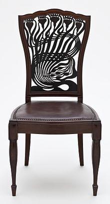 Arthur Heygate Mackmurdo, 1851-1942, English Architect & Designer who influenced the Arts and Crafts Movement.