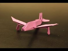 How to make a cool paper plane origami: instruction| JIMBO - YouTube