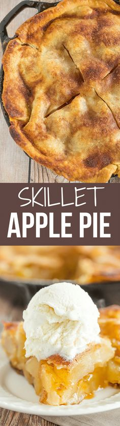 This skillet apple pie is a quick and easy dessert recipe, and it's toffee-like sauce will melt your heart.