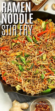 Easy Ramen Stir fry - Spend With Pennies - A ramen noodle stir fry is a great weeknight meal. Ready in 20 mins, this easy recipe is made with - Easy Ramen Stir fry - Spend With Pennies - A ramen noodle stir fry is a great weeknight meal. Ready in 20 Stir Fry Recipes, Sauce Recipes, Cooking Recipes, Ramen Noodles Recipes Easy, Top Ramen Recipes, Asian Noodle Recipes, Recipe For Stir Fry, Easy Stirfry Recipes, Beef Lo Mein Recipe Easy